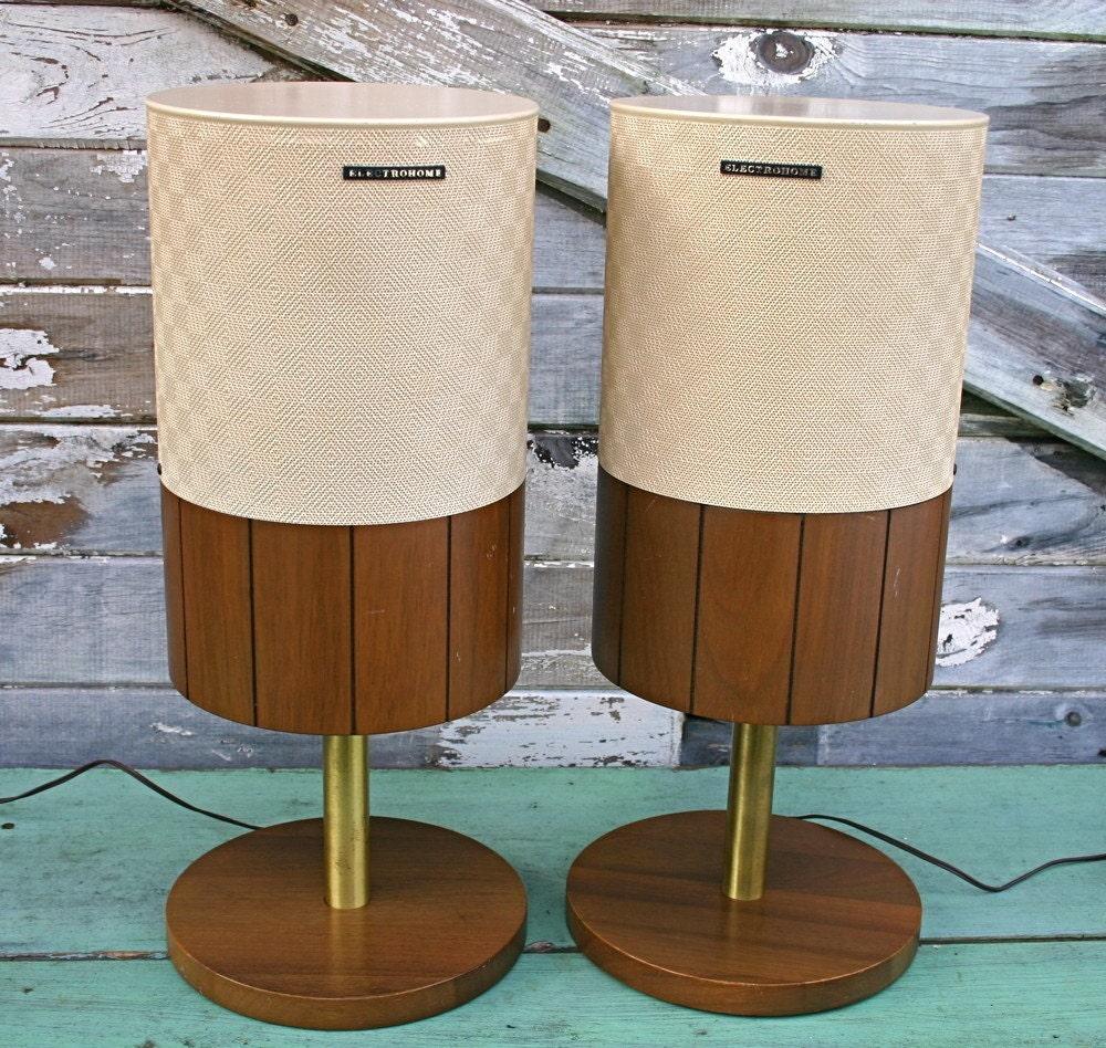 Swanky Mid Mod Electrohome Audio Speakers