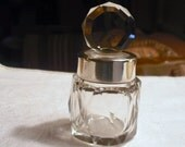 Antique Victorian Hand Cut Crystal Glass And Sterling Silver Beautiful Perfume Bottle, Fully Hallmarked.