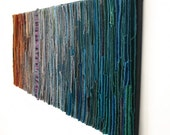 Abstract Textile Art Wallhanging / First Frost