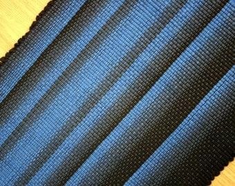 Woven Cotton Rag Rug Cobalt Blue and Black  2 x 3