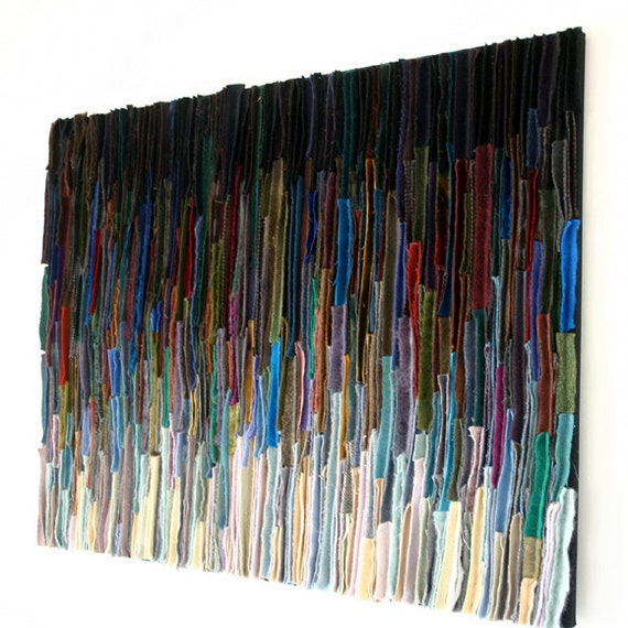 Abstract Textile Art Wallhanging Fading Away