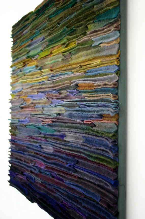 Items Similar To Wool Fiber Art Wallhanging Along The