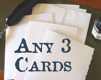 3-Pack of Handmade Cards - Pick Your Assortment