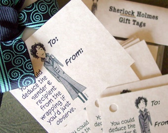 Sherlock Holmes Gift Tags - 15 Tags for Any Occasion - BBC Sherlock
