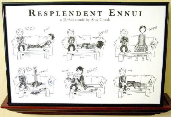 Sherlock's Resplendent Ennui Comic - 11x17 Print