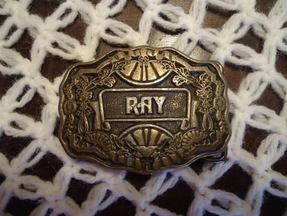 RESERVED for Dayna Vintage Ray Belt Buckle