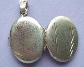 1950s Sterling Silver Locket Wheat Ears