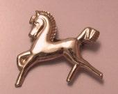 Coro Sterling Horse Brooch 1940s Vermeil