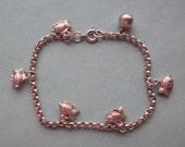 Fishes Charm Bracelet Sterling Silver