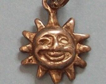 Sterling Silver Pendant Smiling Sun