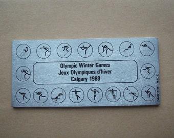 1988 Calgary Olympics Ticket Pewter Souvenir
