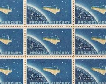 Project Mercury 1962 Mint USPS Stamp Sheet