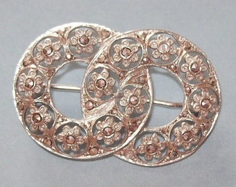 Sterling Marcasite Brooch Germany 1930s