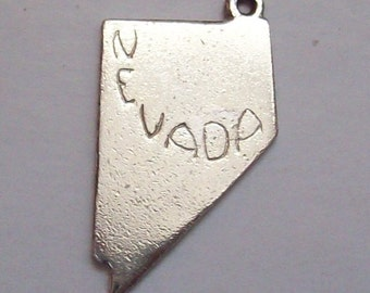 Nevada Map Sterling Silver Charm