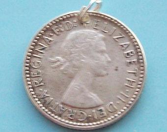 1950s 1960s Silver Sixpence Queen Elizabeth Australia