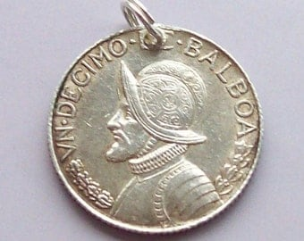 Panama Silver Dime Coin Charm 1962 or earlier