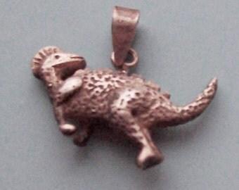 Dinosaur Pendant Sterling Silver