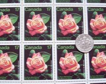 Rose Canadian Mint Stamp x10
