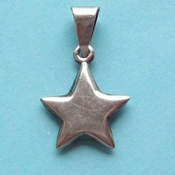 Silver Star Sterling Silver Pendant
