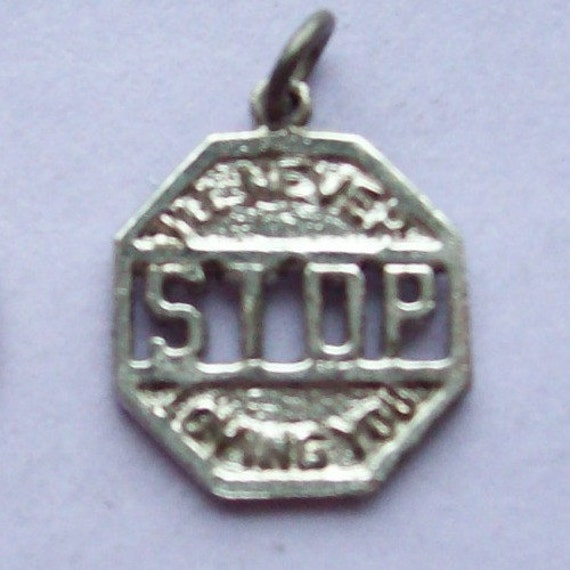 I'll Never Stop Loving You Charm Sterling Silver 1960s