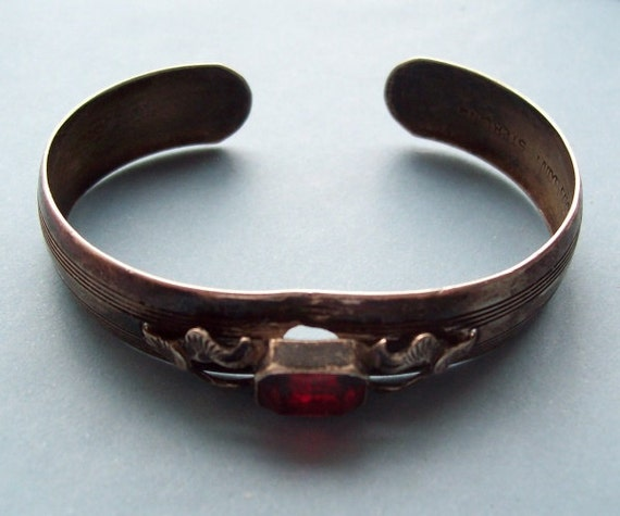Cuff Bracelet Sterling Silver Lady Fayre RESERVED