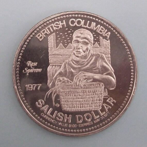 Salish First Nations Dollar Coin 1977