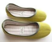 Eco Cute Ballerina Flats in Lime Green - 910C