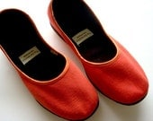 Handmade Eco-chic Vegan Ballet Flats in Red - 910R