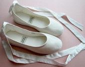Eco-chic Handmade Vegan Bridal Ballet Flats 902C and insoles