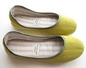 Ballerina Flats in Lime Green - 910C
