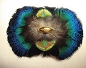 Penelope's Fascinette  ... Blue Peacock Feather Barrette Fascinator