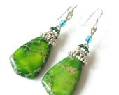 Green Sea Sediment Earrings
