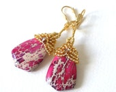 Purple Sea Sediment earrings
