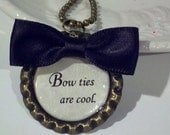 Dr. Who Bow Ties Are Cool Inspired  Bronze Bottle Cap Pendant,  Choose Your Quote, Book Lovers Necklace