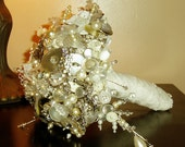 SILVER AND WHITE BUTTON BOUQUET (CUSTOM PIECE FOR BETHAN WALKER)