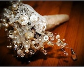 VINTAGE BRIDAL BUTTON AND BEAD BOUQUET PACKAGE FOR MACSBROWNIE66  (DEPOSIT)