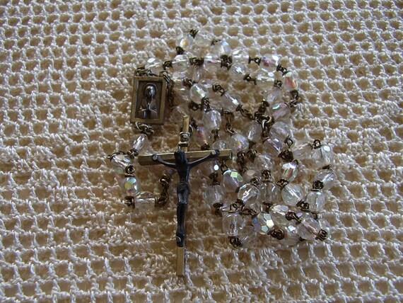 Vintage Rosary Crystal Beads