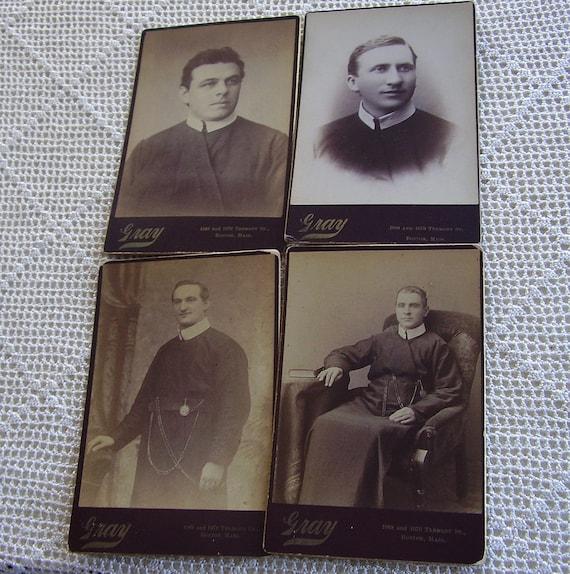 Vintage Cabinet Cards Priests