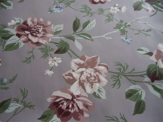Reserved for SimplyCottageChic Vintage Wallpaper Roll 1940s Floral Vogue Papers