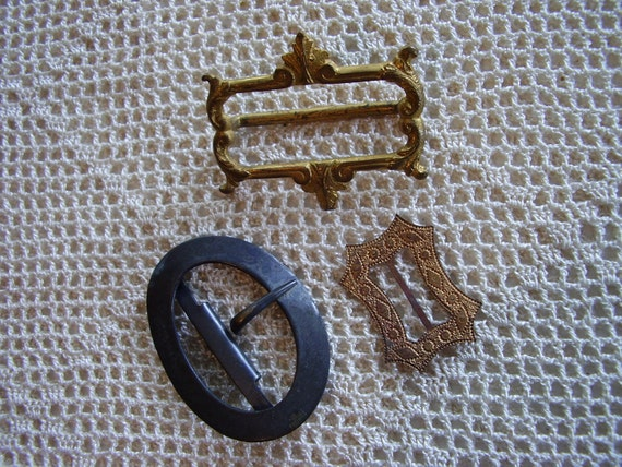 Vintage Buckles Brass & Metal