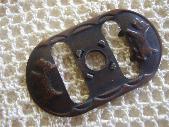 Vintage Buckle Scotty Dogs