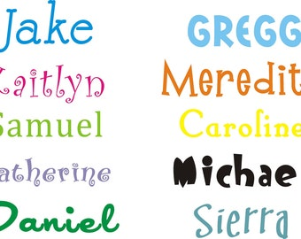 Name Decal for Kids