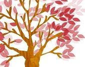 Ruby Tree Large Format 16x20 Art Poster Print