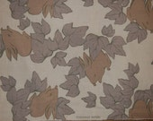Japanese Fabric KOKKA- 100 percent cotton Cream with Grey Leaves