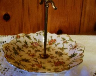 Moriyama Mori Machi Chintz Server Bon Bon Bowl Antique 1920's Porcelain SALE