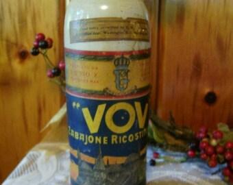 Stoneware Jug Italy Liquor VoV Zabajonne Ricostituente Rare 1800's Primitive