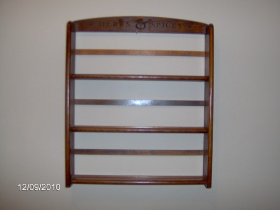 Sale Vintage Country Style Wooden Spice Rack 3 By