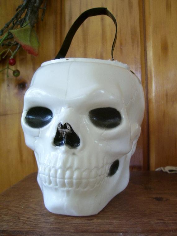 Sale Rare Vintage Halloween Skull Plastic Blow By