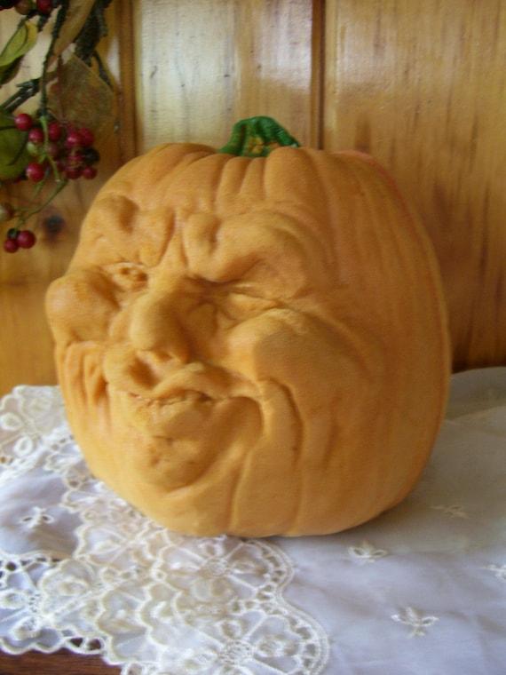 Todd Masters Foam Jesabell Oh Lantern Pumpkin-Vintage Halloween Decor Funny Face
