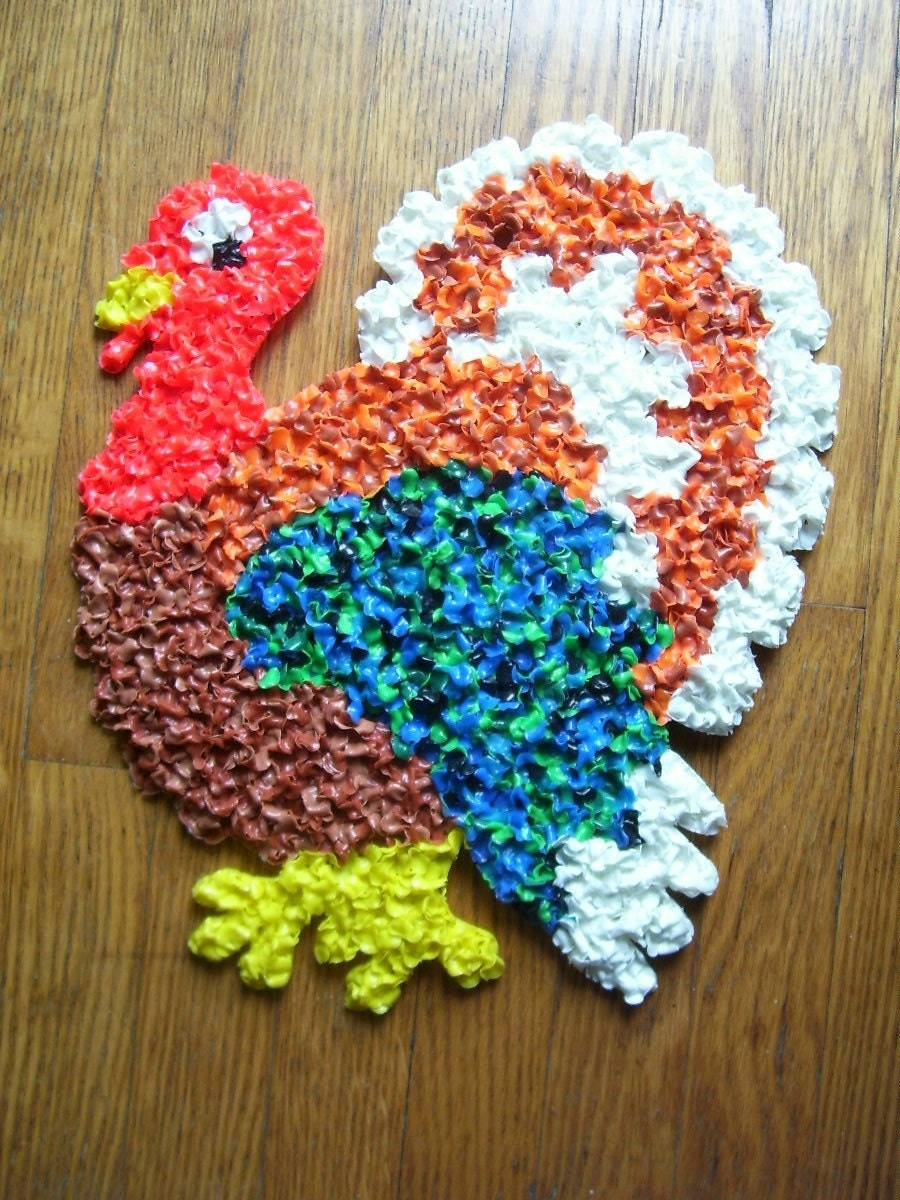 Sale vintage thanksgiving turkey melted plastic by thefunnybunny - Thanksgiving decorations on sale ...